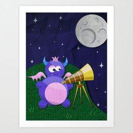 Stargazer Baby Art Print