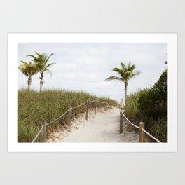 Sandy Dunes, Miami Art Print