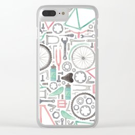 Cycling Bike Parts Clear iPhone Case
