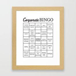 Corporate Jargon Buzzword Bingo Card Framed Art Print