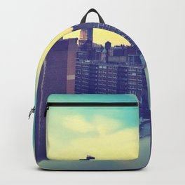 Pastel City Triptych Right Backpack