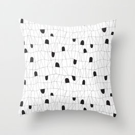 Tunnel hideouts Throw Pillow