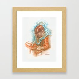 """You can't type a baby."" - Colored Pencil Framed Art Print"