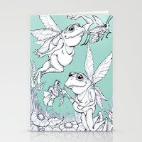 fairies Stationery Cards featuring Frog Fairies by Meg Hewick