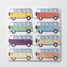 VW Van Parade Metal Print
