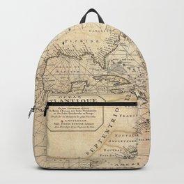 1683 Map of North America, West Indies, and Atlantic Ocean Backpack