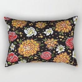 Roses and Marigolds Rectangular Pillow