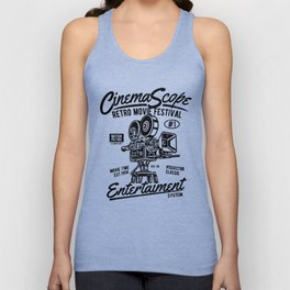 Old movie camera, retro movie festival, for film fans Unisex Tank Top