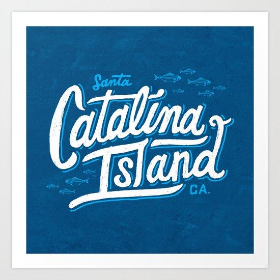 Catalina Island Blue Art Print