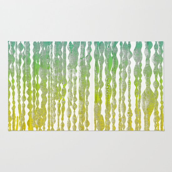 psychedelic stripes - green Rug