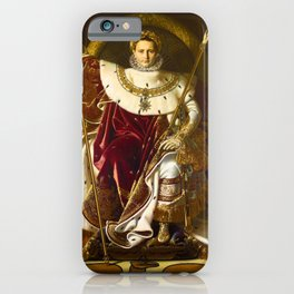 Napoleon I on his Imperial Throne - Jean-Auguste-Dominique Ingres iPhone Case