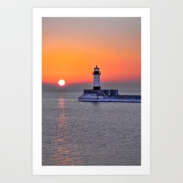 Duluth Harbor North Breakwater Lighthouse Art Print