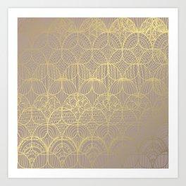 Golden Decor Art Print