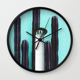 Cactus Tower Wall Clock