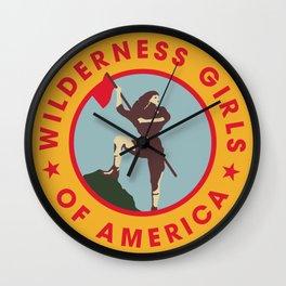 Wilderness Girls of America Wall Clock