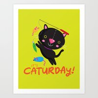 Caturday Series: Kimchi Art Print