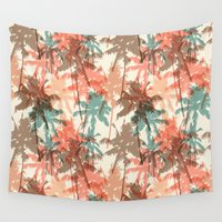 palm trees Wall Tapestries featuring Palm trees by Julia