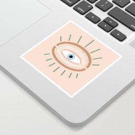 Retro evil eye - neutrals Sticker