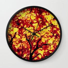 Fall 1 of 2 Wall Clock