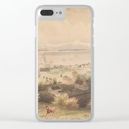 Vintage Pictorial View of Seattle & The Puget Sound Clear iPhone Case