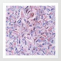 Watercolour abstract pattern 4 Art Print