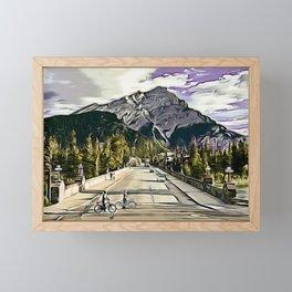 Bow River Bridge Framed Mini Art Print