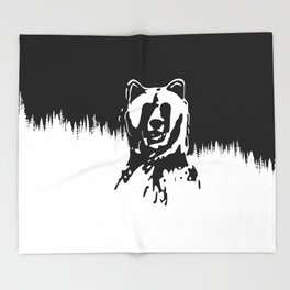 Bear Spirit Throw Blanket
