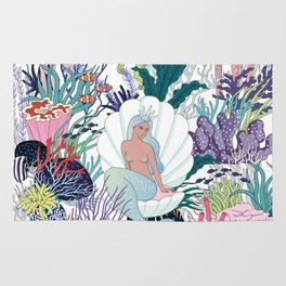 mermaids Kingdom Rug