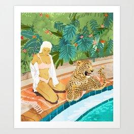 The Wild Side #illustration #painting Art Print