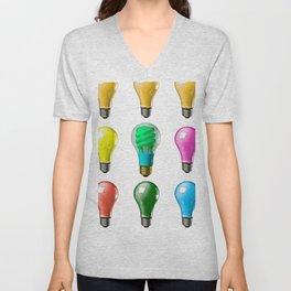 Lightbulbs Of A Differnt Color Unisex V-Neck