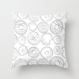 Donuts Are Life Throw Pillow