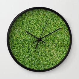 Green Grass by Silvana Arias Wall Clock