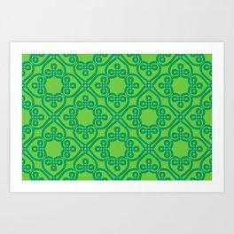 Shamrock Green ribbon Celtic knots Art Print