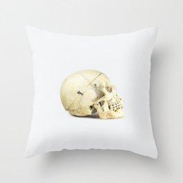 Skull Study 1 - Human Throw Pillow