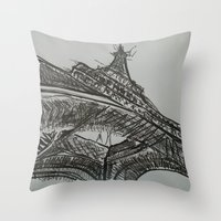 eiffel Throw Pillows featuring Eiffel by Esteban Garza