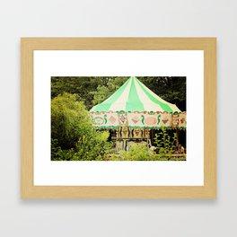 Zoo Carousel Framed Art Print