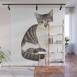 Charming the fat cat that likes to eat a lot Wall Mural