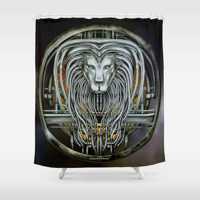 """Astrological Mechanism - Leo"" Shower Curtain"