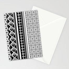 Modern Black 2 Stationery Cards