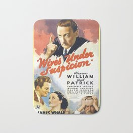 Vintage Movie Posters, Wives Under Suspicion Bath Mat