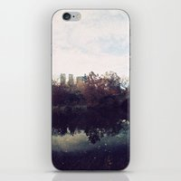 central park iPhone & iPod Skins featuring Central Park by The Clutter Monkey