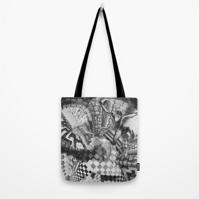 Labyrinth Chase Tote Bag