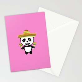 Mexican Panda Fiesta T-Shirt for all Ages Dotqm Stationery Cards