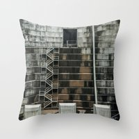 industrial Throw Pillows featuring Industrial  by Novella Photography