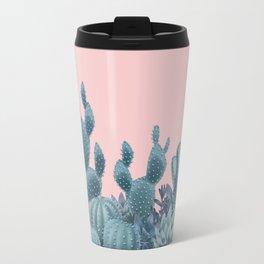 Milagritos Cacti on Rose Quartz Background Travel Mug