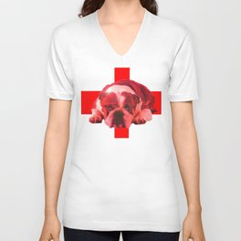 BREXIT: the Bull is Feeling: it stopped thinking. Unisex V-Neck