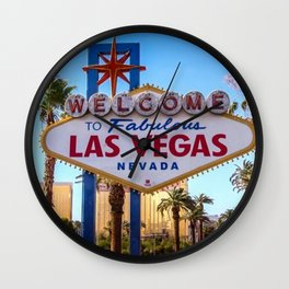 Welcome To Las Vegas Wall Clock