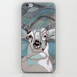 Aqua Deer  iPhone Skin