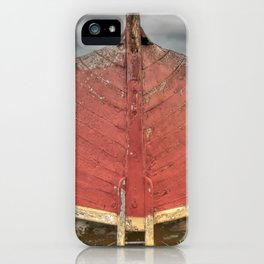 Red Boat at Rest iPhone Case