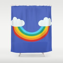 upside down rainbow smile Shower Curtain